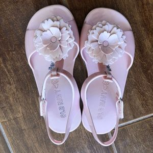 Pink Old Navy flower girl sandals